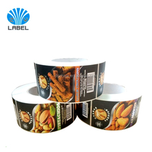 Printing Roll Custom logo Self Adhesive matte Labels Stickers For food Package,CMYK Printed Food Labels