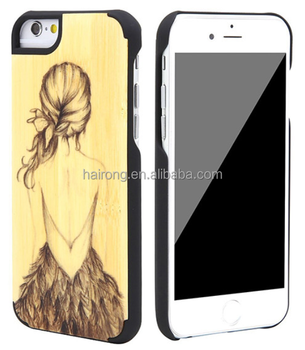 2016 new gadgets wood bamboo mobile phone cover case for iphone 6 6s 6P