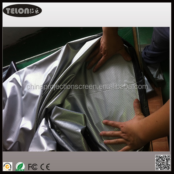Telon mesh screen material projector with Black Border and Eyelet