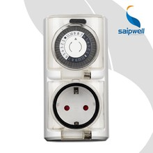 SAIP/SAIPWELL 30min IP44 Waterproof Outdoor Mechanical Daily Timer with German Plug