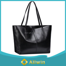 Custom high quality fashion leather women tote handbag