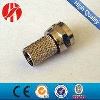 Pure Brass RG6 coaxial cable f type compression plug connectors