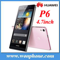 huawei p6 Smartphone Quad core 1.5GHz 4.7'' Capacitive Screen 2GB 8GB Android 4.2 OS 2G/3G GSM/WCDMA GPS Phone