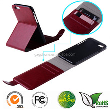 Flip leather cover case for iphone6 with stand function