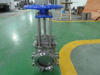 Manual rising stem stainless steel knife gate valve