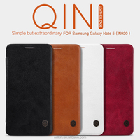 Nillkin Qin Leather Flip Mobile Phone Cases for Samsung galaxy Note 5 leather case