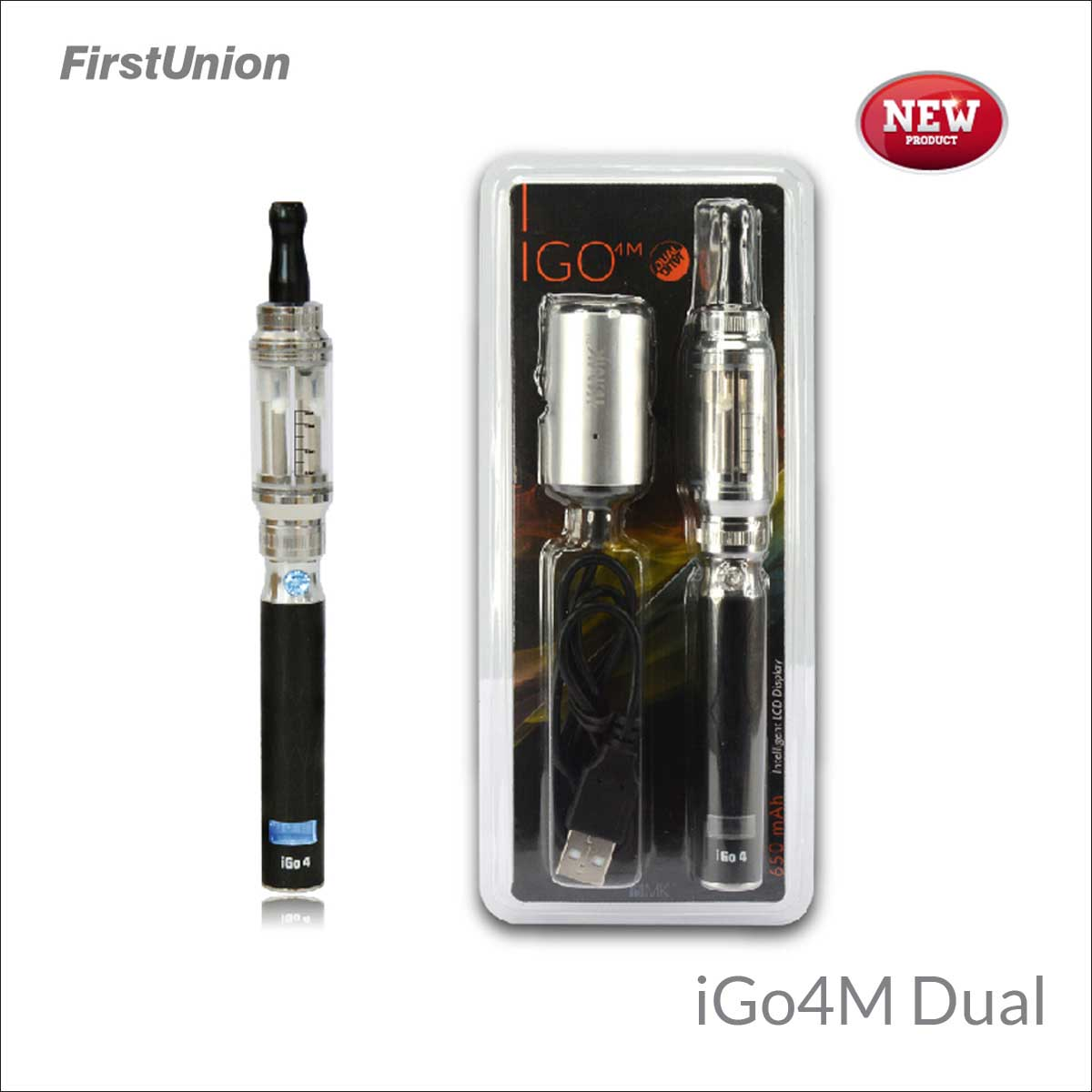 2014 new innovative products cheap electronic cigarette iGo4M dual flavors clearomizer drop ship e-cigarette