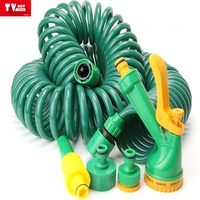 brass Connector Flexible reinforced pvc Air Coil hose/Spiral cryogenic tube/multicolor Spring PU Hose
