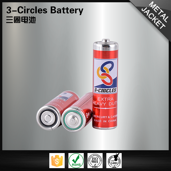 Environment-friendly aa size leak-proof R6P 1.5 volt battery