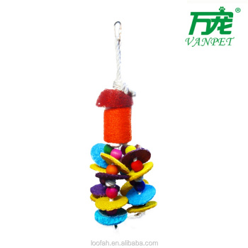 sell well new design loofah bird parrot toy