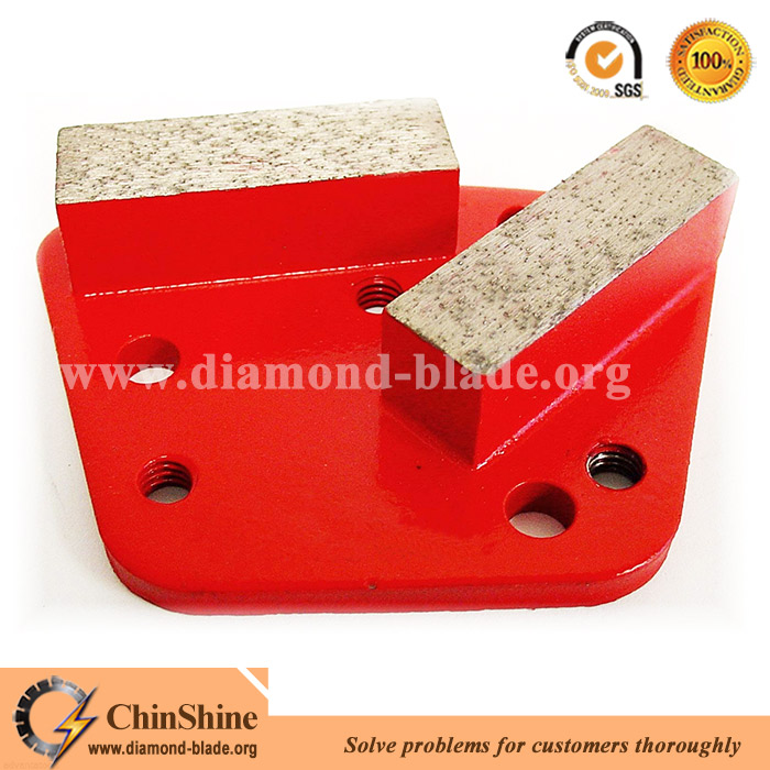 Magnetic trapezoid diamond floor grinding segment for concrete polishing