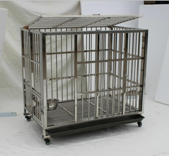 Cute Pet Dog Crate Tray Stainless Steel Custom Plastic Pet Bed Animal Cage Dog Furniture