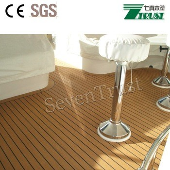 2018 Top teak Marine Flooring PVC Foam Decking Material for Boats