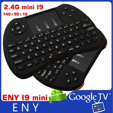 2.4G rechargeable wireless keyboard I9 mini Wireless Keyboard for Android TV Box Built-in lithium-ion battery