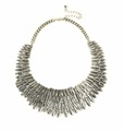 2017 metal leaf chunky collar necklace costume leaf chunky necklace women leaf collar necklace in alloy