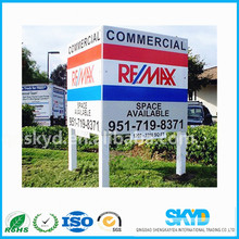 corrugated/corflute plastic advertising board/yard sign/lawn sign/road sign with H stake
