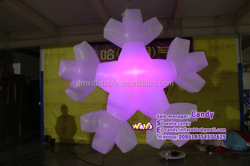Holiday decorations Inflatable snowflakes C-284