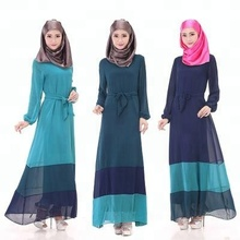 sexy large size women's abaya Muslim fashion dress long-sleeved gown