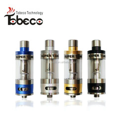 Tobeco newest authentic patented hot sale super tank/turbo/rubik/hollowpoint rda most popular huge vapor super tank