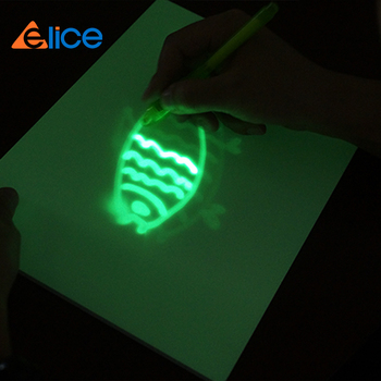 the pen toys able emitting laser phosphorescence +simple pvc tablet for fashion dawing board