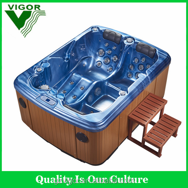 factory Acrylic Free Standing Bathtub Removable Bathtub with CE certification for 3people