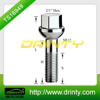 Alloy steel 12.9 grade wheel nut bolt