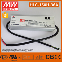 150W 36V 4.2A Mean Well LED Driver HLG-150H-36A IP65 Rate 7 Years Meanwell LED Power Supply