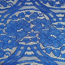 2017 Hot Selling Chinese Flower Royal Blue Lace Fabric