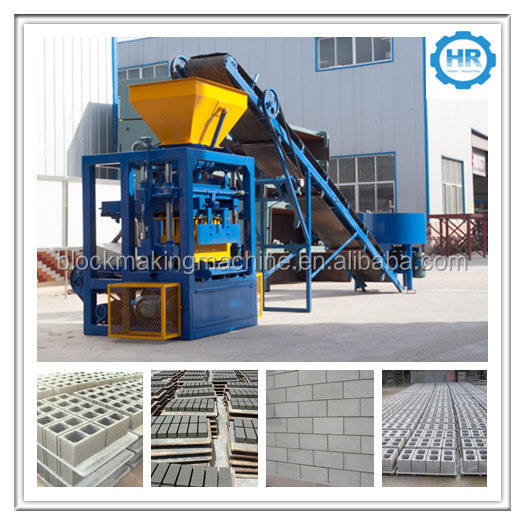 New products in China! QTJ4-24 concrete blocks machines small scale production line for hollow blocks paving blocks