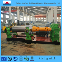 2017 High Quality concrete mixer rubber tire two roll rubber open mixing mill machine