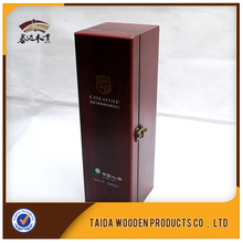 Wooden Single Wine Liquor Bottle Storage Packaging Gift Box