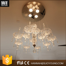 Light Source and Neutral Color Modern Ball Crystal Chandelier