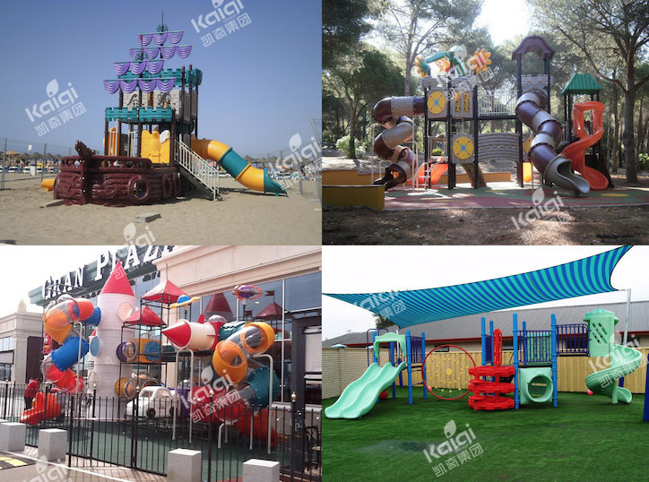 Kaiqi NonToxic Playground Equipment Trampoline Series with international standard KQ60154A