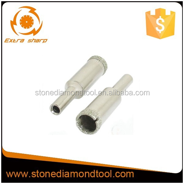 Electroplated diamond core drill bits for glass/glass cutting drill bit