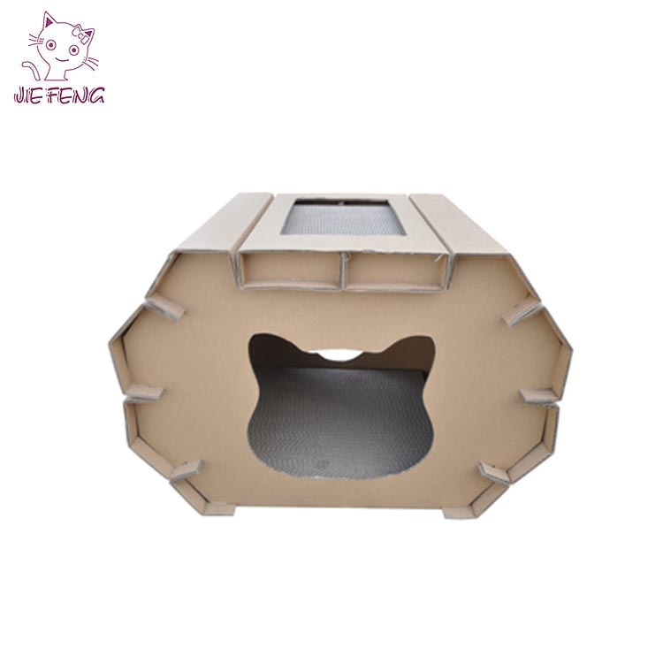 New Coming Factory Direct Selling Cat Product Large Szie Collapsible Cat Cave With Scratching Pad