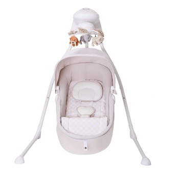 Multi-function Electric baby swing baby bed Rocker Napper with Removabel seat pad Canopy Mosquito Net and remote control