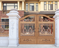 Metal material gate design/ walk Gates swing gate metal gate/ Luxury villa wrought iron decorative wrought iron steel main gate/