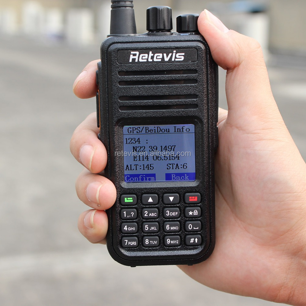 2017 Launch updated GPS UHF Digital Radio Walkie Talkie Retevis RT3