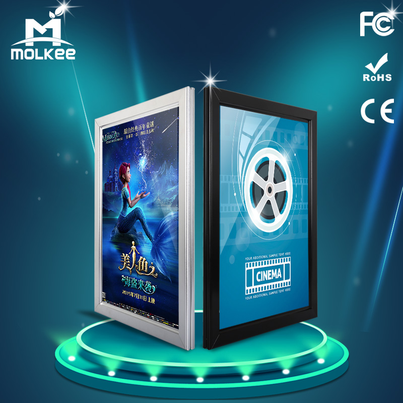 High Quality Super Slim Aluminum Snap <strong>Frame</strong> LED Advertising Light Box With Different Customized <strong>Sizes</strong>