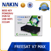 Original freesat V7 DVB S2 satellite tv receiver support Powervu Cccam Usb wifi Freesat V7 Max