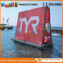 Floating inflatable water screen inflatable advertising billboard