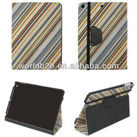 knit stand case for iPad Air,inside is rubberized PC case,with elastic strap closure
