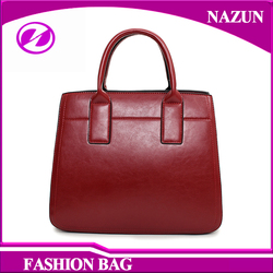 fancy simple long strap hand leather women bags latest design