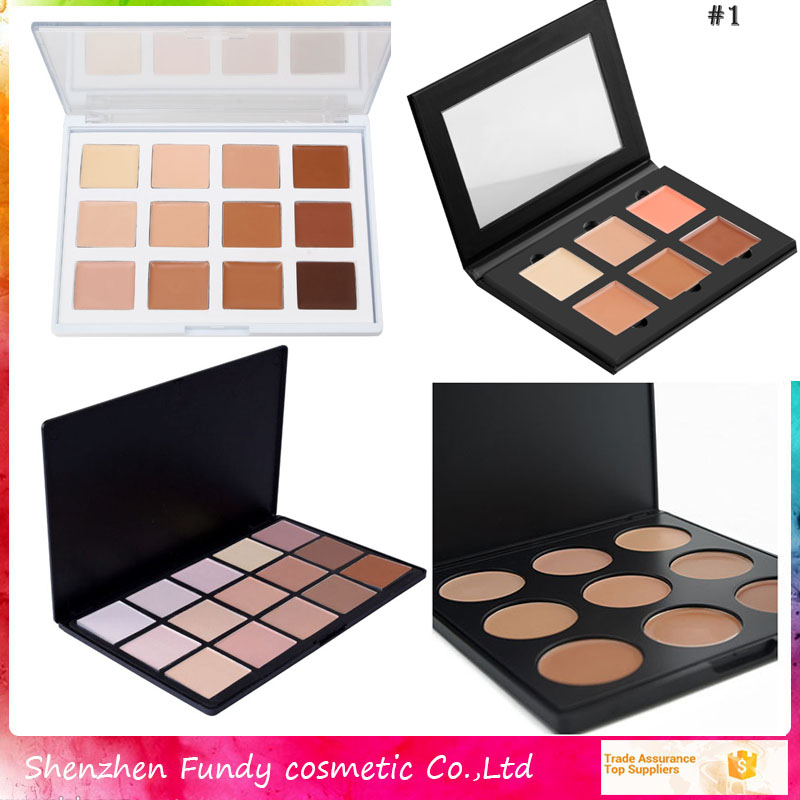 Wholesale authentic makeup10colors fine powder contour kit private label concealer