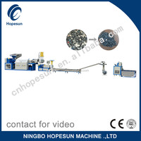Professional PP,PE ,PS,ABS ,PET plastic recycling &pelletizing machine quality choice