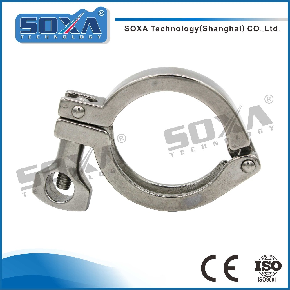 Sanitary Stainless Steel Full Size Clamp Quick Release Tri Clamp 13MHH
