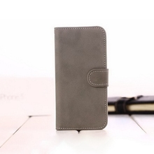 Design new arrival flag leather wallet case for iphone5