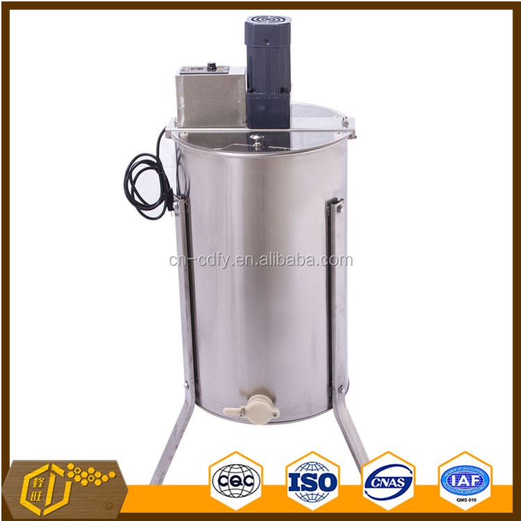 3 frames stainless steel honey extractor by electric