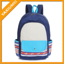 Good quality soft canvas backpack leisure satchel