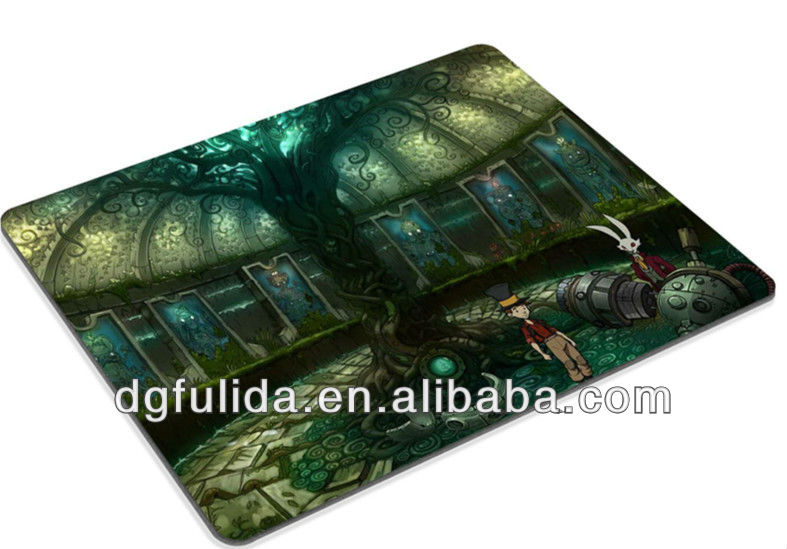 The Night Of Rabbit Animal with Boy Pictures mouse mats